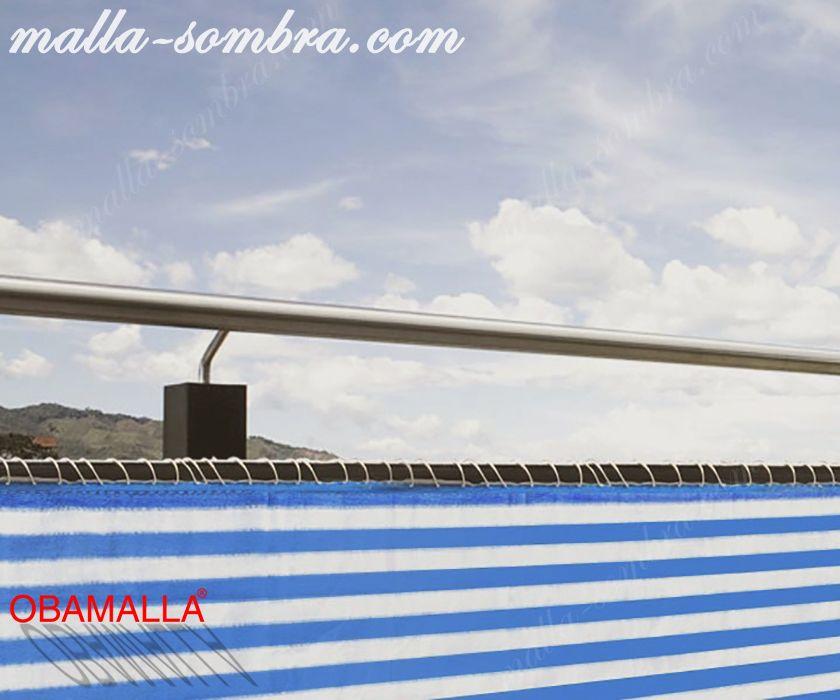 Malla de sombre colocada para la protección contra la radiación solar.